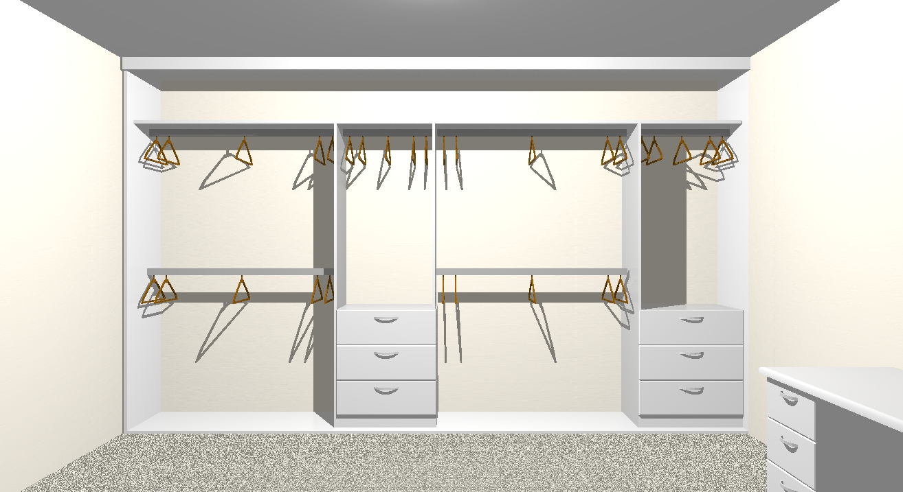 cad drawing of a wardrobe