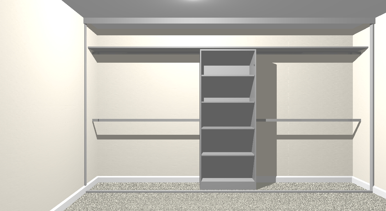 Fitted wardrobe with shelving and hanging space