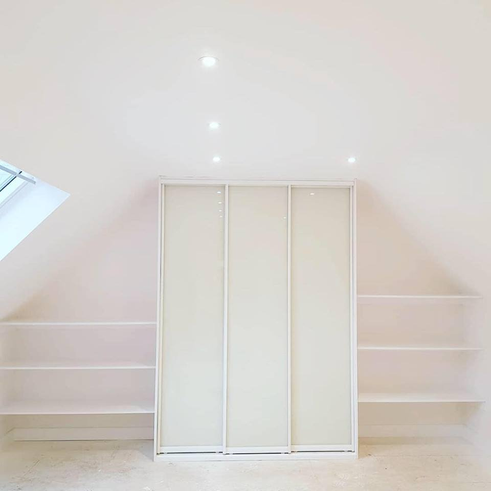new build angle cieling