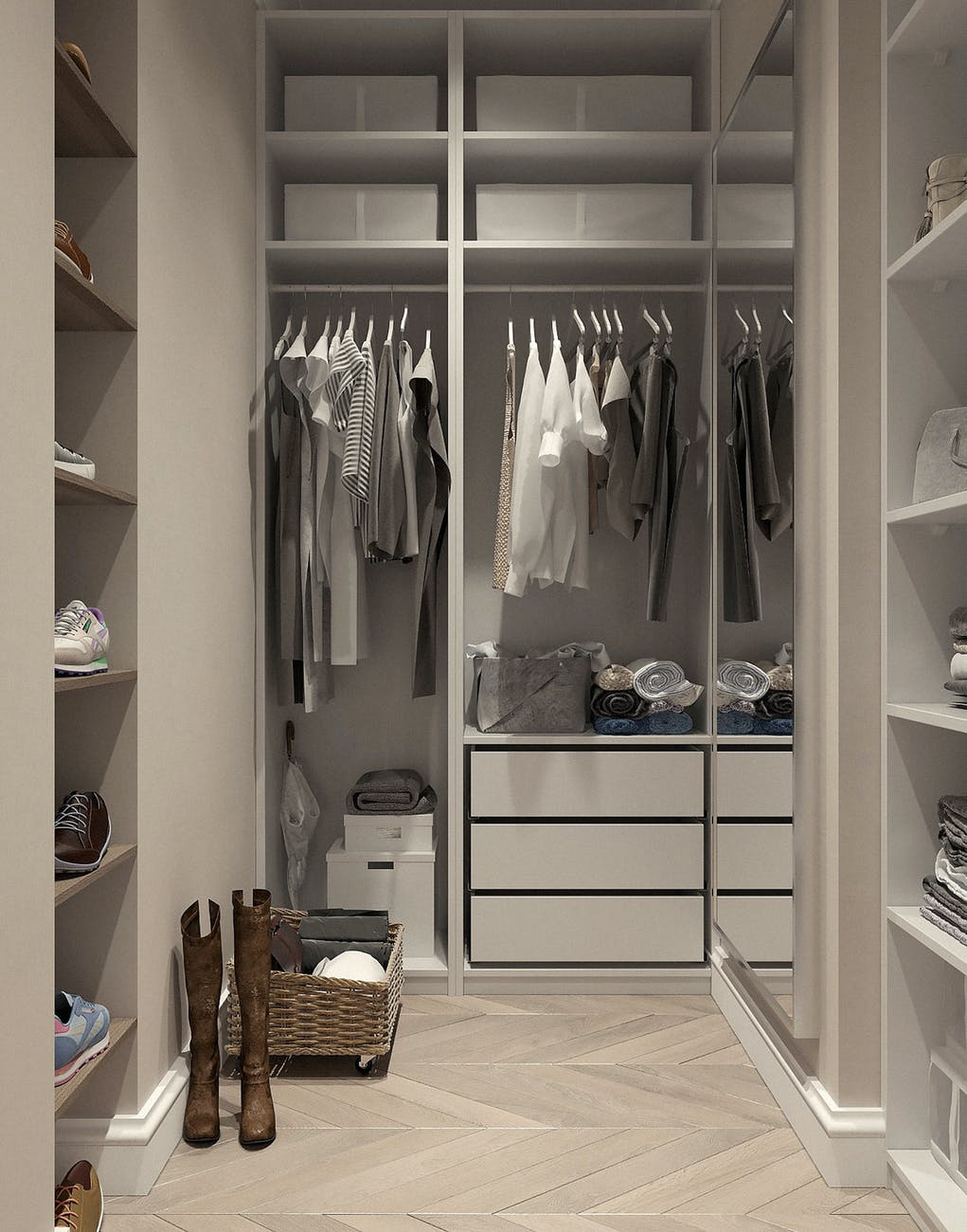 fitted wardrobe inside