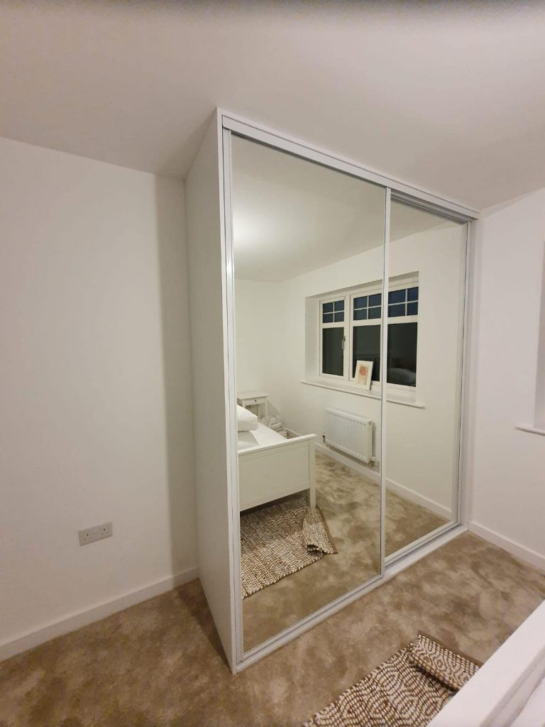 glass fitted wardrobe